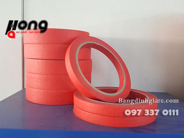 băng dính giấy đỏ có khả năng chịu nhiệt cao